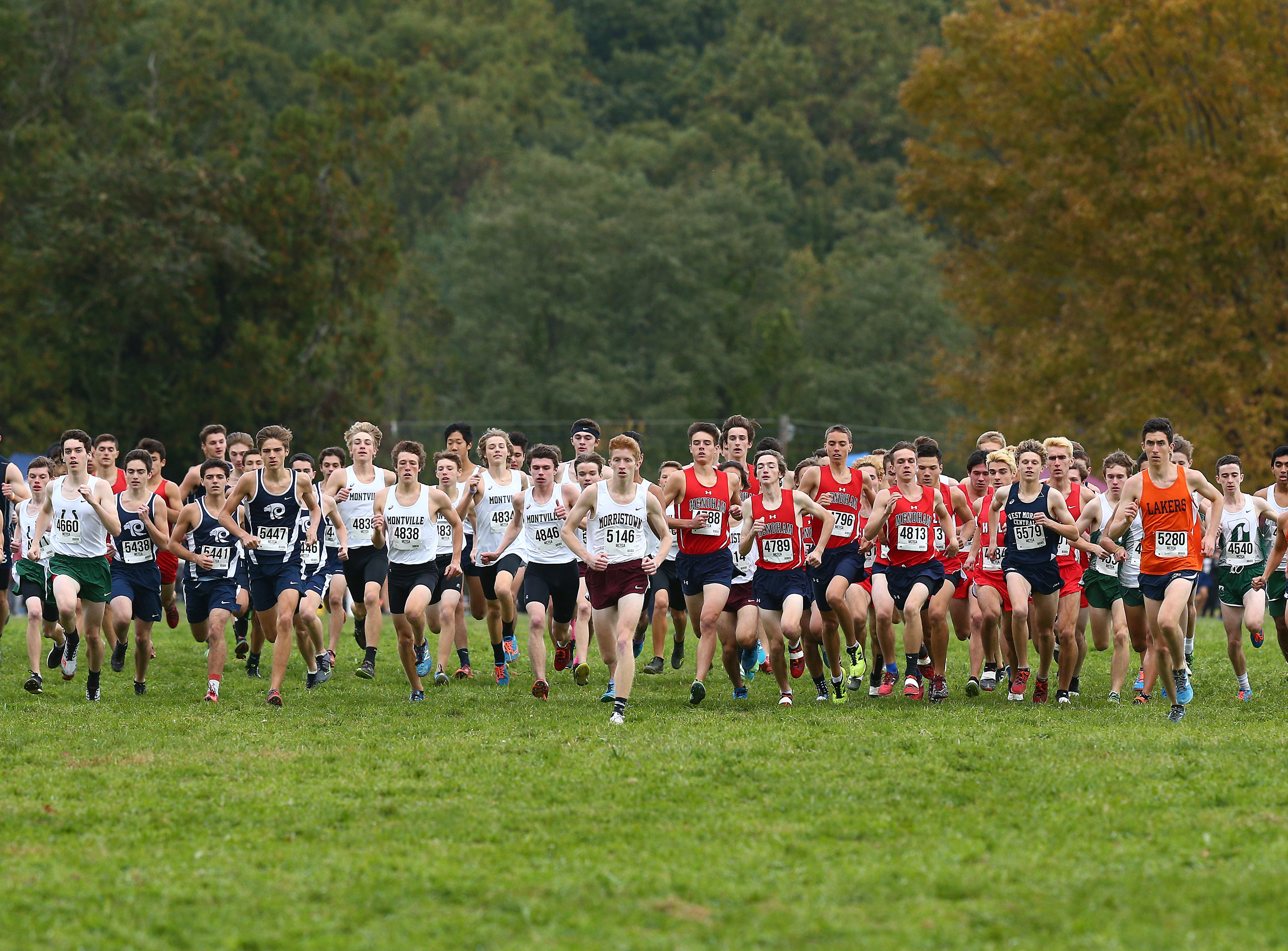 Morris County boys cross country championships at  Central Park of Morris County. October 23, 2018, Morris Plains, NJ