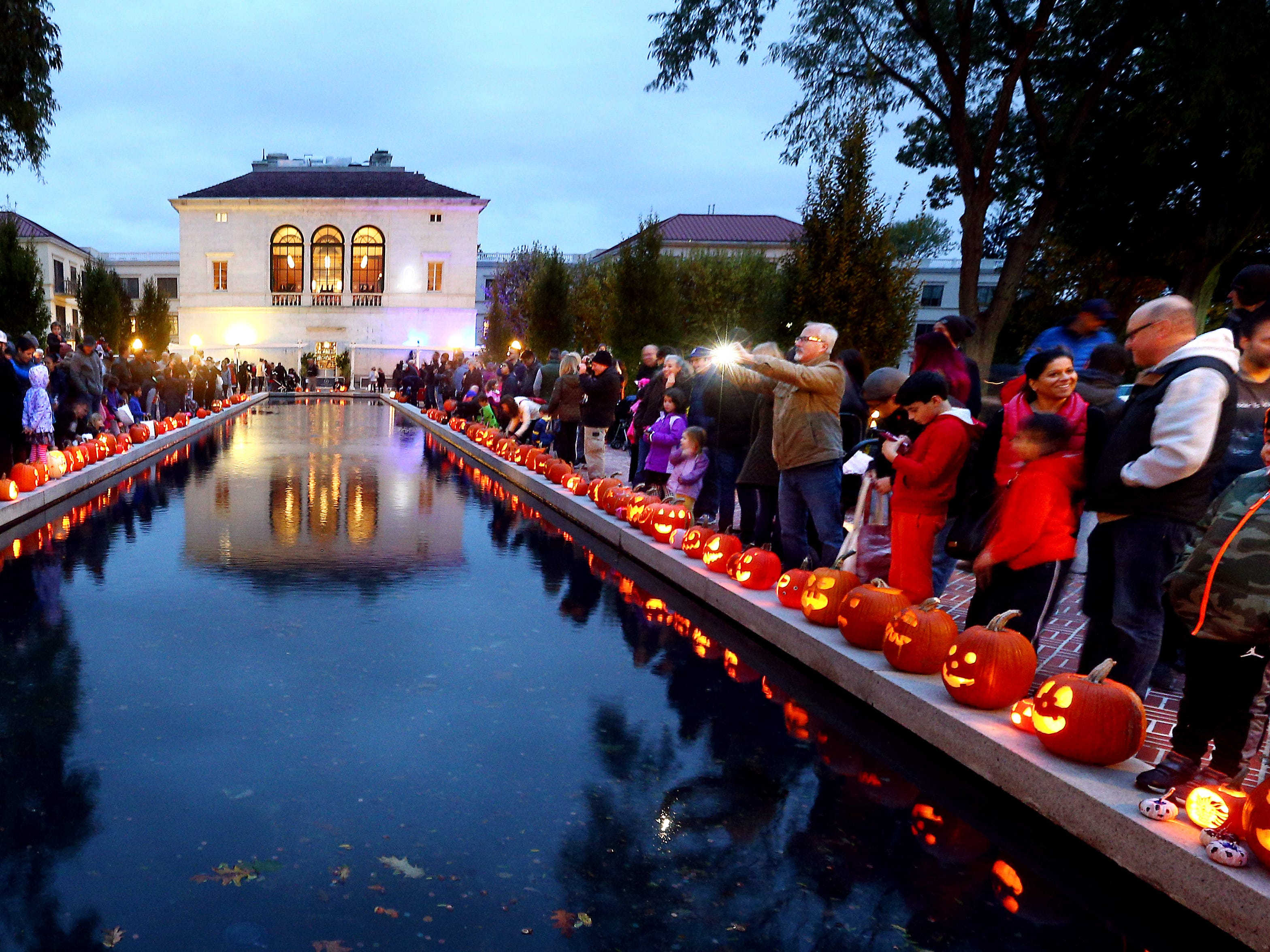 The 9th annual MorrisArts 9th annual Pumpkin Illumination at the Vail Mansion. October 28, 2018, Morristown, NJ
