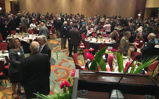 People gather for the Business in the Arts Awards luncheon Thursday at the Renaissance Montgomery.