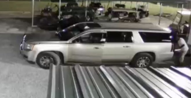 This suspect vehicle has been involved in a string of thefts in Prattville.