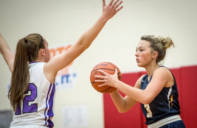 Delta's Brooklyn Matheny, shown here in the season opener against Central, scored 10 points in a win over Eastbrook on Wednesday.