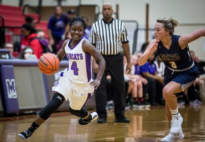 Central's Da'Koyta Sloss, shown here earlier this season against Delta, scored 33 points in a win over Burris on Wednesday.