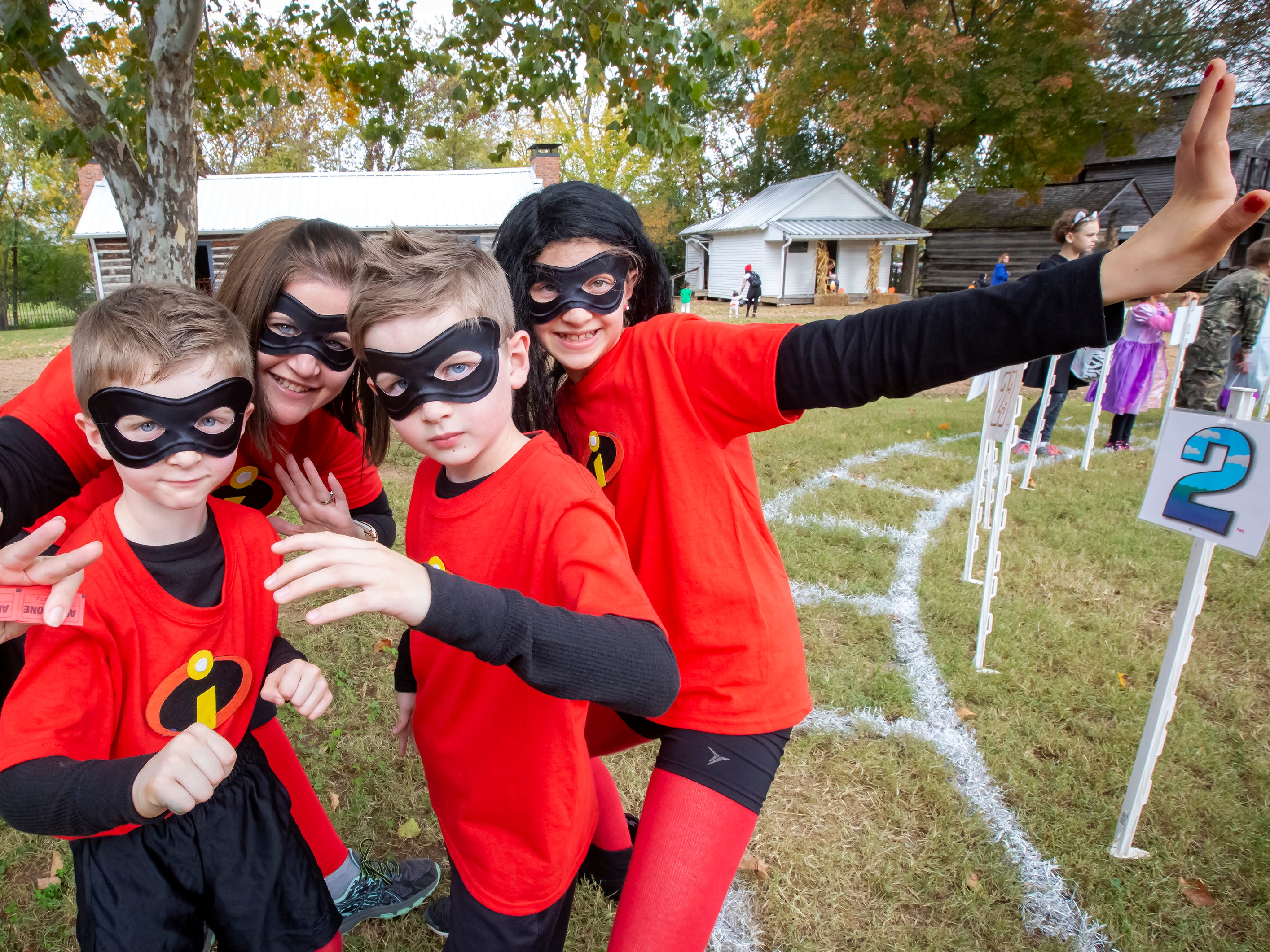 The Incredibles, aka as Michelle, Sydney, Bradyn and Clay Nelson, were at the Fall Celebration and Hayride at Cannonsburgh Village.
