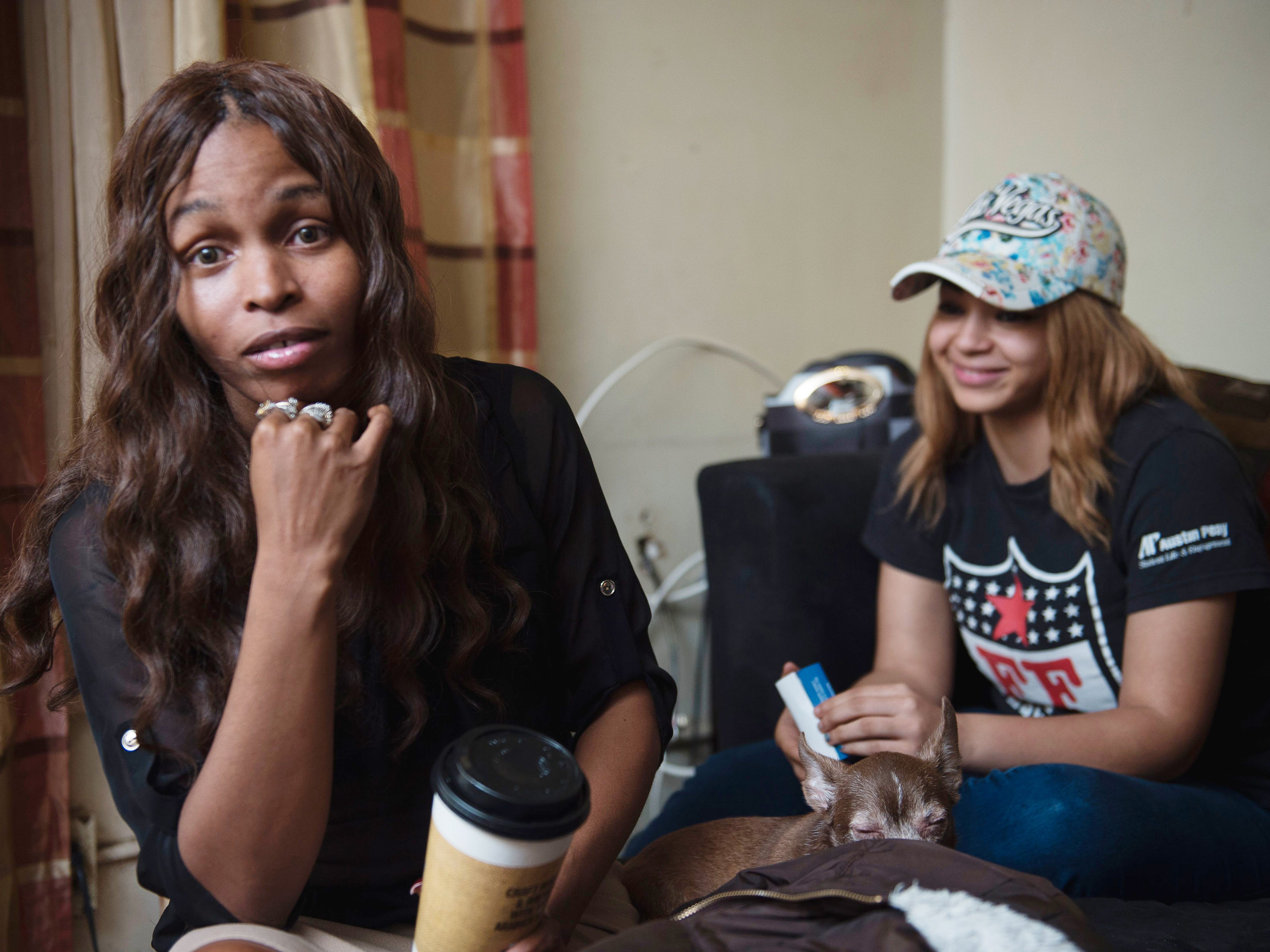 LaConya Hampton spends time with her daughter Tatiana Parham, 17, at their apartment in James A. Cayce Homes on March 21, 2017.