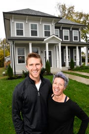 Sean and Erin Oprea are thrilled to find their new home close to downtown. Thursday Nov. 1, 2018, in Nashville, Tenn.