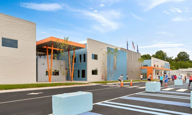 The design of Valor Collegiate Academy, which was built by redesigning a former office building and big box retail store, recently received an award from AIA Middle Tennessee.