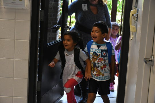 """The kids are excited about the program as soon as they arrive. Volunteers conduct """"Children and Parents Reading Together"""" programs with pre-K students in elementary schools through the Literacy Volunteers of Collier County."""