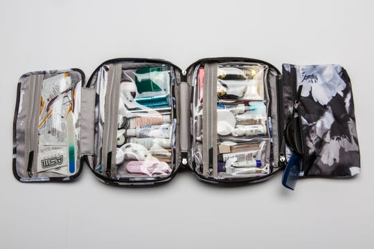 """After searching for the quintessential (works for a weekend, a week or a three-week trip) toiletry bag, I found it. While not inexpensive, the Voyageur Madina case, by TUMI, is perfect for my travel needs; in fact, it's now on my """"top 10 travel items"""" list."""