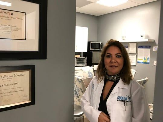 Dr. Nancy Goodwin in her practice, Goodwin Medical Center, in East Naples  in October 2018.