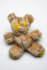 Professional organizer Marla Ottenstein's childhood teddy bear, worse for wear after encounters with family dogs over the years.