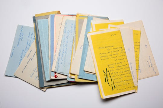 Love letters from professional organizer Marla Ottenstein's father to her mother while he was in the Army and she was miles away, pregnant with Marla.