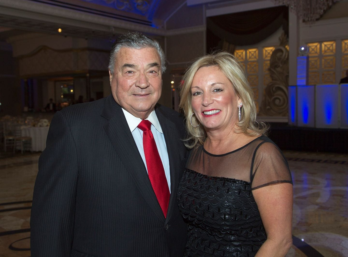 Joseph M. Sanzari, Lori Rubino. Holy Name Medical Center held its 2018 MS Center Awards Reception at the Venetian in Garfield. 10/23/2018