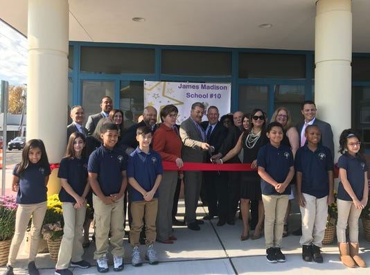 Garfield ribbon cutting
