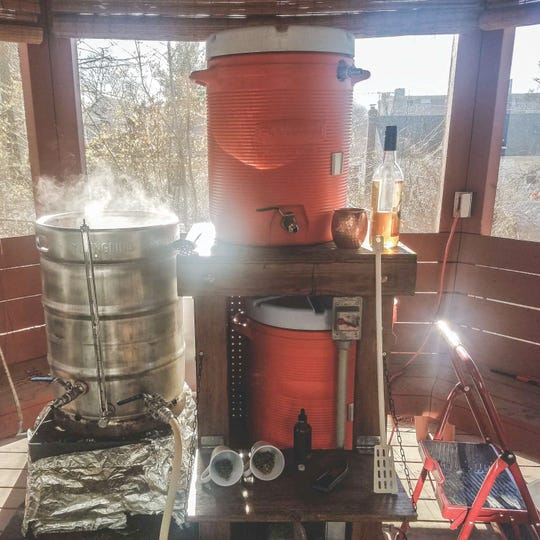 """Before Mike Jones started Hackensack Brewing Company there was the """"Brewzebo"""" - the homebrew setup in the gazebo in his backyard."""