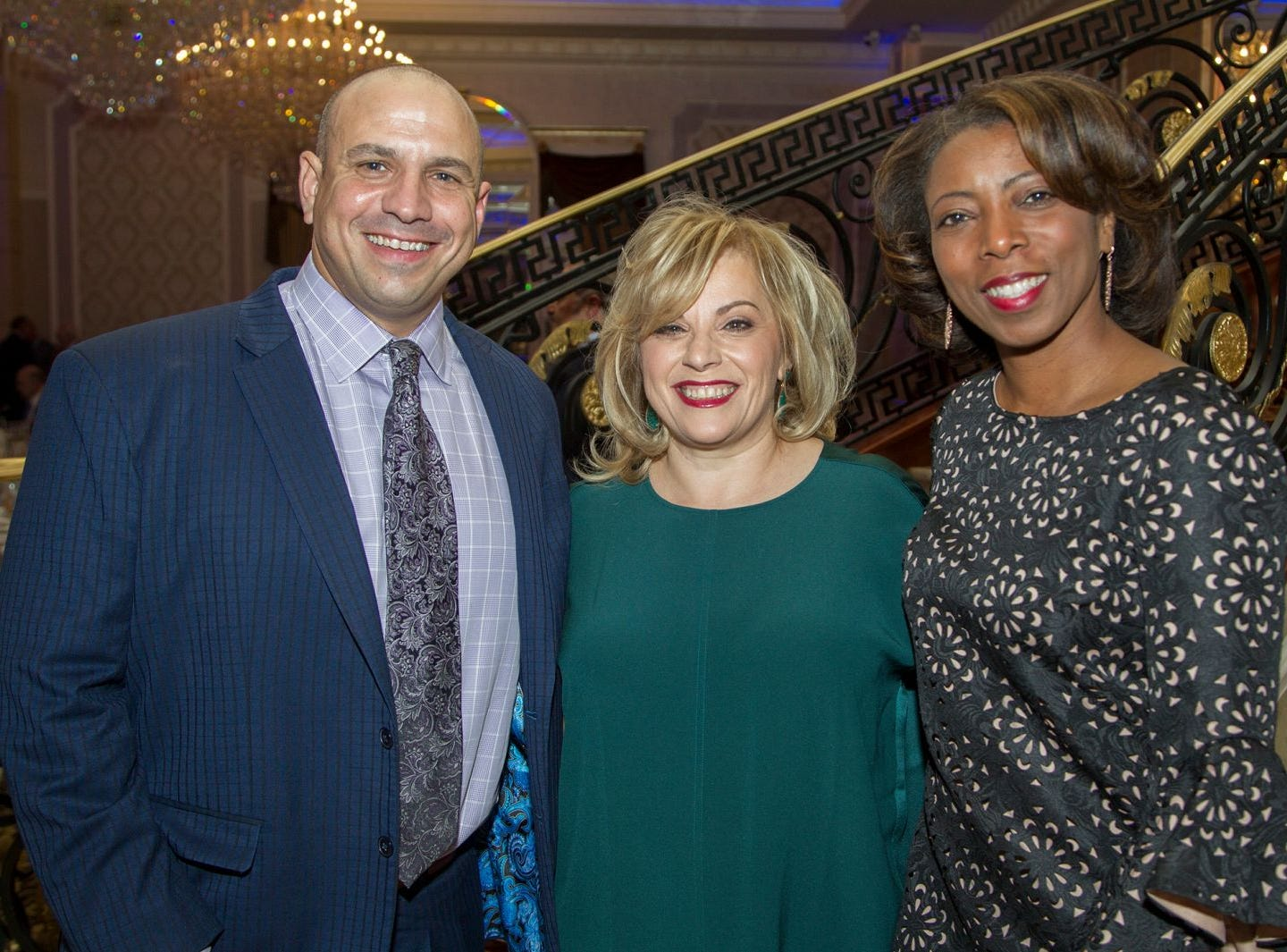 Chris Turchi, Dr. Mary Ann Picone, Julie Owens. Holy Name Medical Center held its 2018 MS Center Awards Reception at the Venetian in Garfield. 10/23/2018