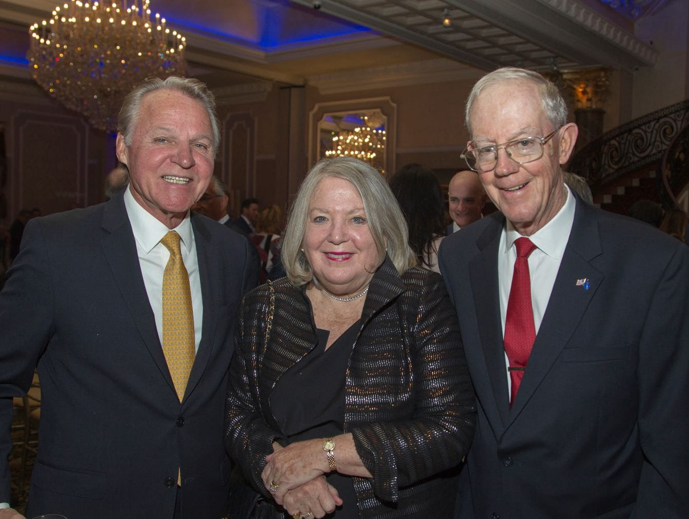 Dan Leber, Marge and Jack Geraghty. , Holy Name Medical Center held its 2018 MS Center Awards Reception at the Venetian in Garfield. 10/23/2018