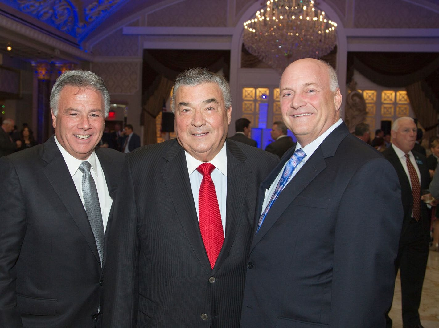 Larry Inserra Jr., Joseph M. Sanzari, Michael Maron. Holy Name Medical Center held its 2018 MS Center Awards Reception at the Venetian in Garfield. 10/23/2018