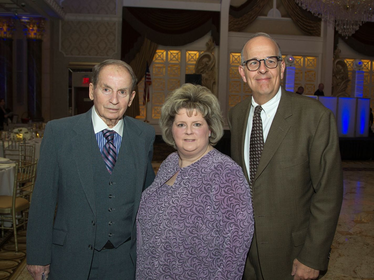 George Webster, Linda and Phil Cennerazzo. Holy Name Medical Center held its 2018 MS Center Awards Reception at the Venetian in Garfield. 10/23/2018