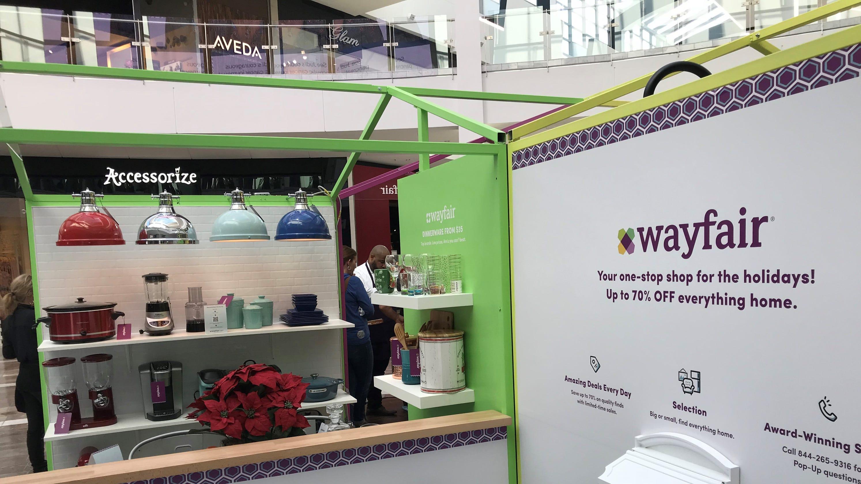 wayfair opens pop up shop at garden state plaza mall. Black Bedroom Furniture Sets. Home Design Ideas