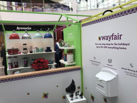 The Wayfair shop at Westfield Garden State Plaza will be open until early January.