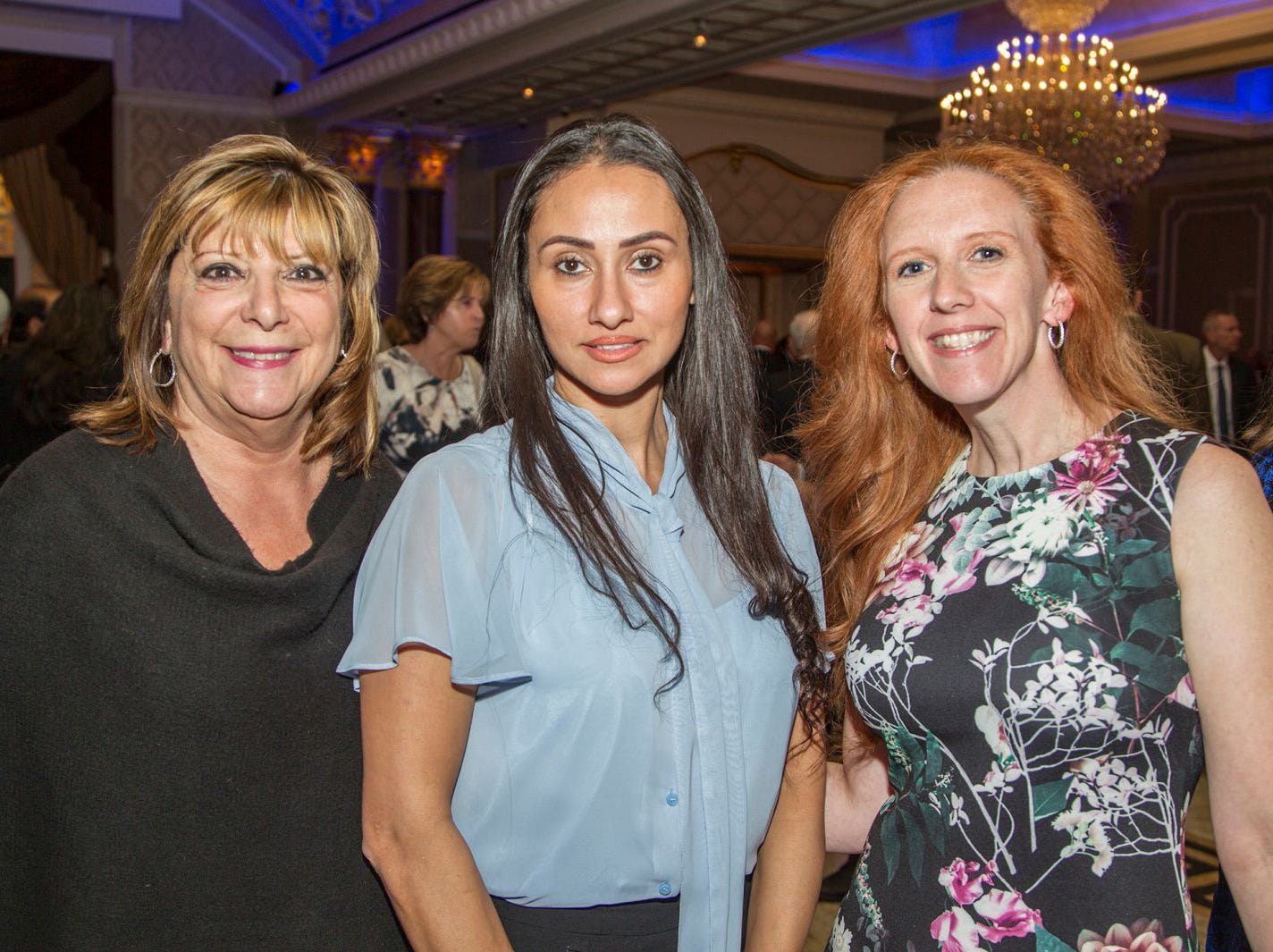 Margurite Herman, Maha Khatib, Christal Radburn. Holy Name Medical Center held its 2018 MS Center Awards Reception at the Venetian in Garfield. 10/23/2018