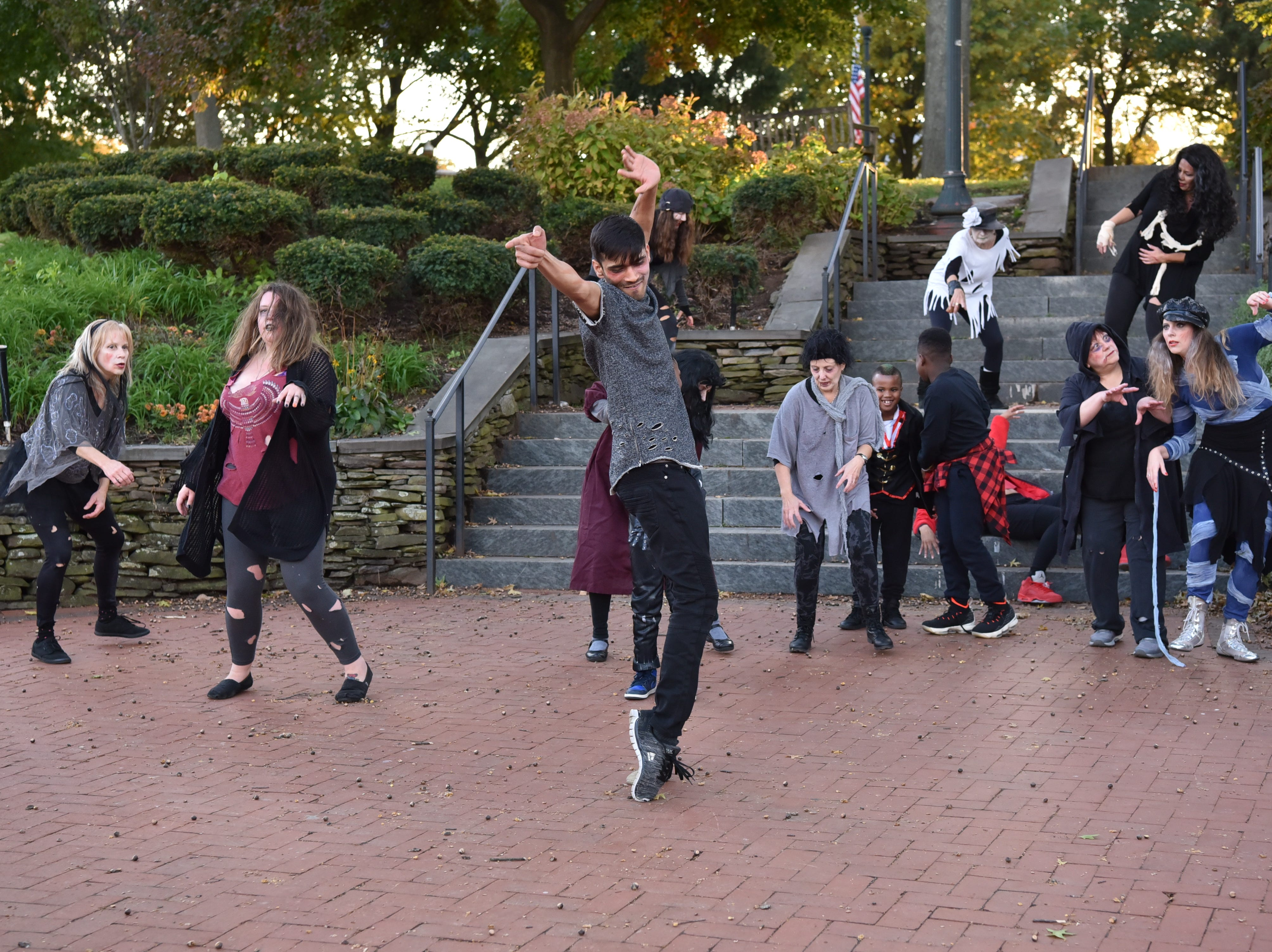 """Art Of Motion, a non-profit of Ridgewood organizes a """"Thriller"""" flash mob for Halloween."""