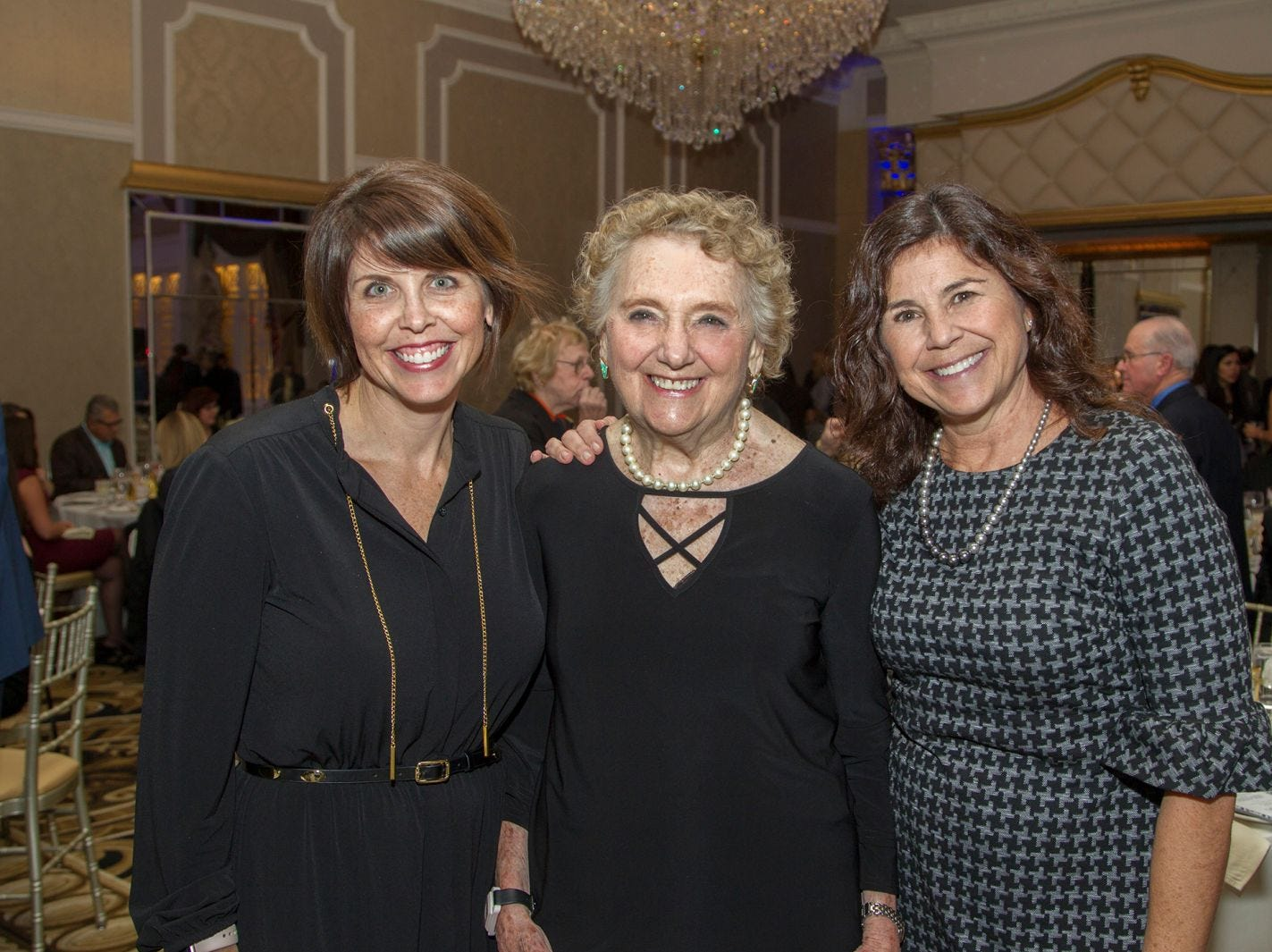 Chantelle Walker, Elaine Adler, Amy May. Holy Name Medical Center held its 2018 MS Center Awards Reception at the Venetian in Garfield. 10/23/2018