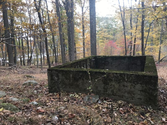 A structural foundation is one of the few signs of modern civilization on Lake Hopatcong's Liffy Island in Jefferson Township on Nov. 1, 2018.
