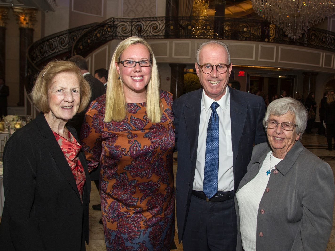 Sister Antoinette Moore, Molly McGarry, Joe Parisi, Sister Barbara Moran. Holy Name Medical Center held its 2018 MS Center Awards Reception at the Venetian in Garfield. 10/23/2018