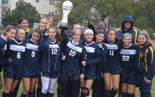 Saddle Brook's girls soccer team took home the NJIC Tournament championship in exciting fashion last year.