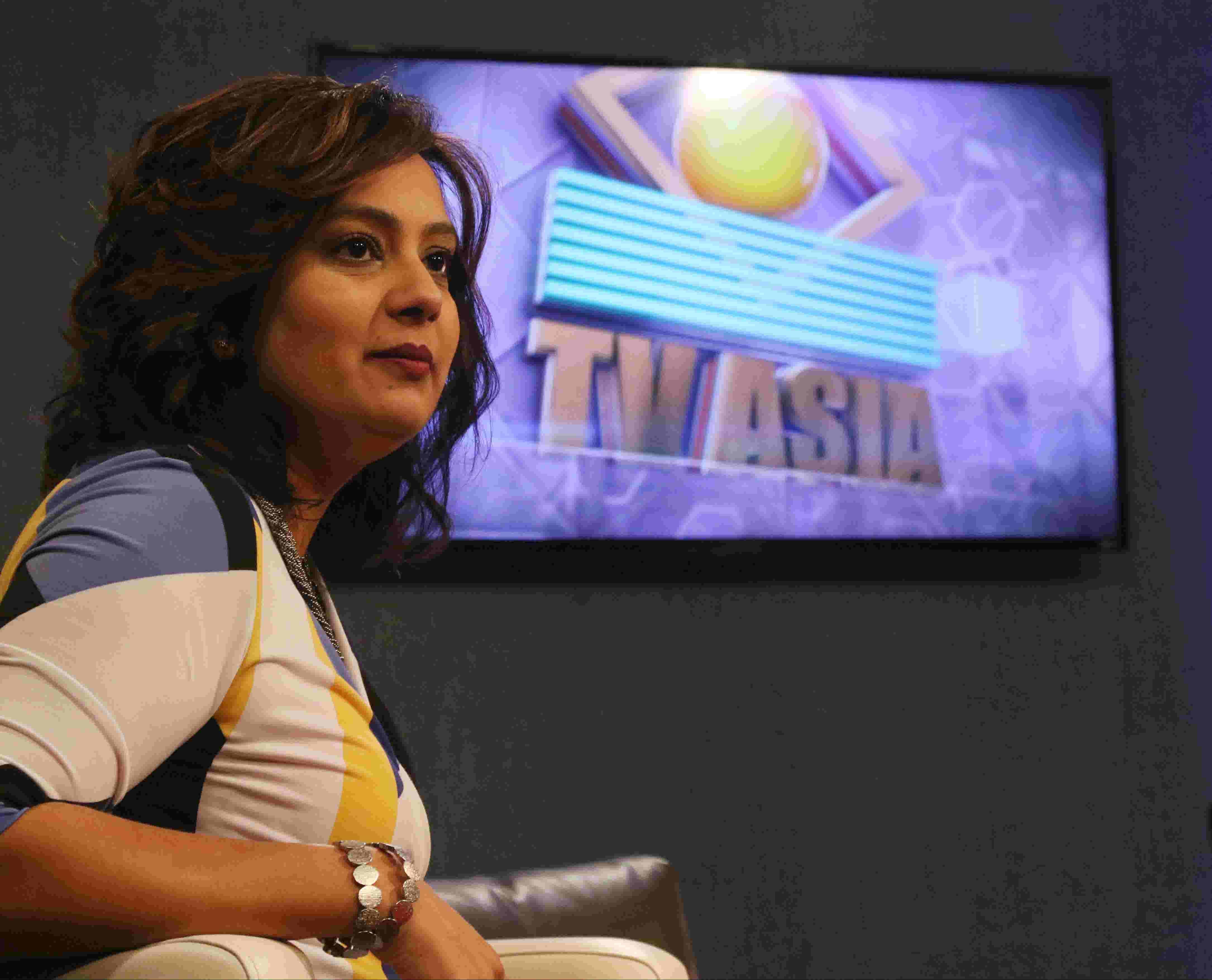 Neha Mahajan hosts a talk show on TV Asia