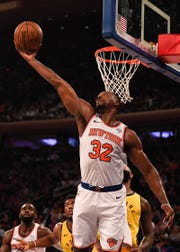 New York Knicks' Noah Vonleh has started most of the season at power forward after struggling to find consistency his previous four seasons.