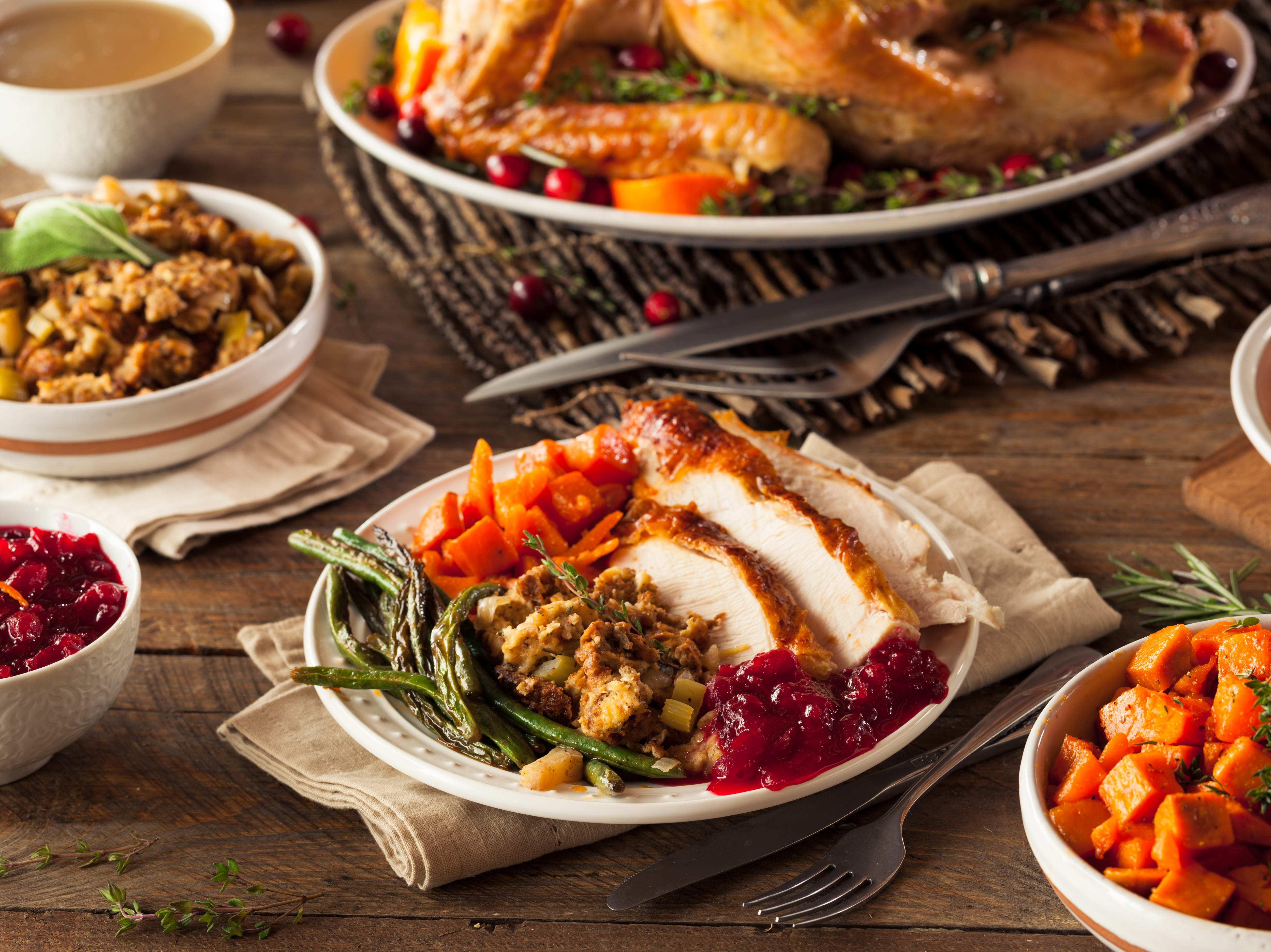 Five local restaurants offering holiday meals on Thanksgiving Day