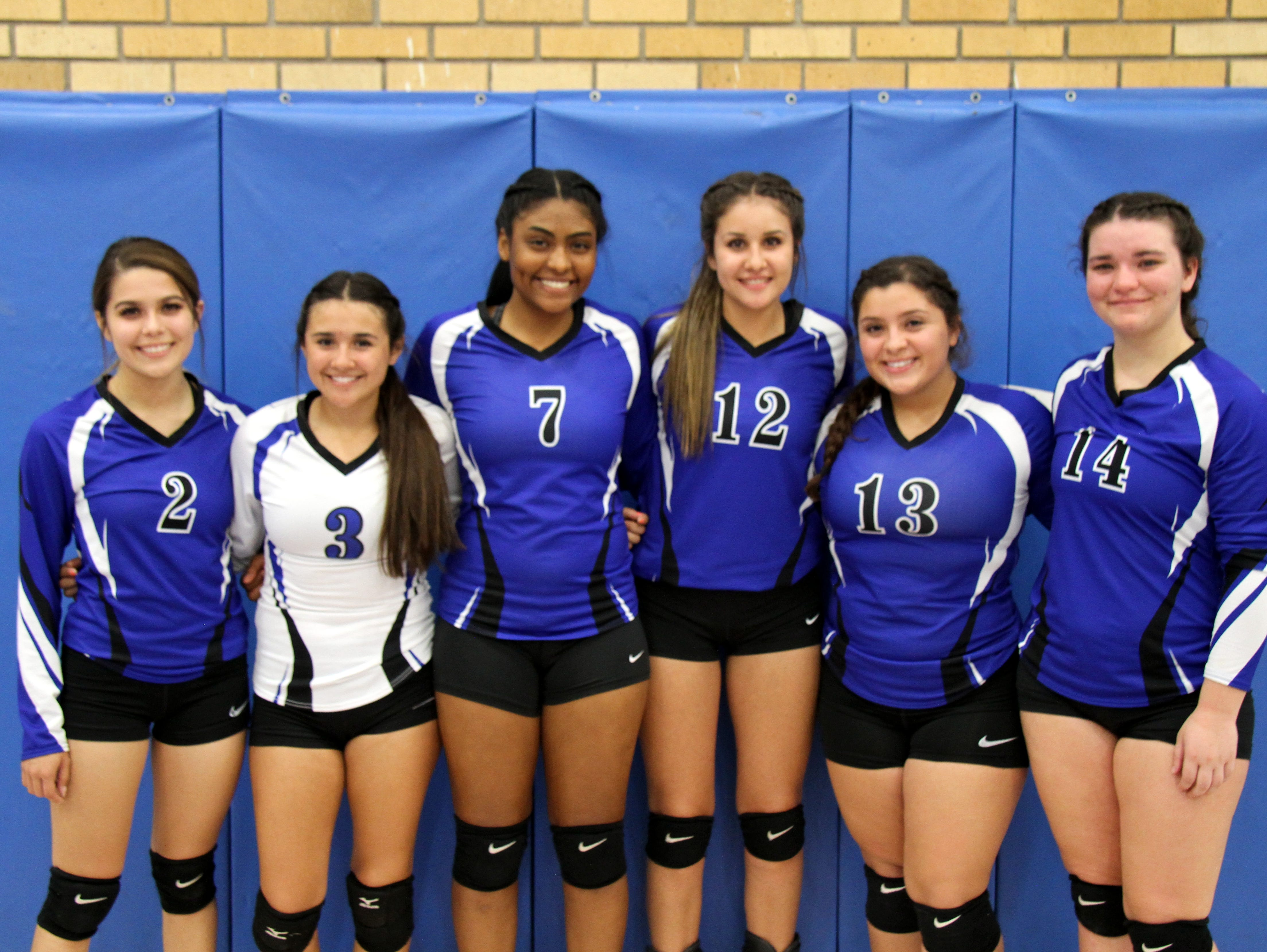 The senior class poses after Tuesday's Senior Night match against Hobbs.