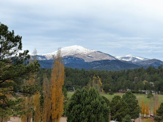 snow in Sierra Blanca Peak