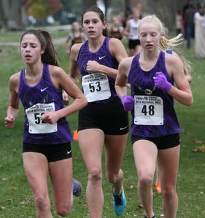 The Bloomfield Hills girls cross country team captured the Division 1 regional Oct. 26 at Lake St. Clair Metropark.