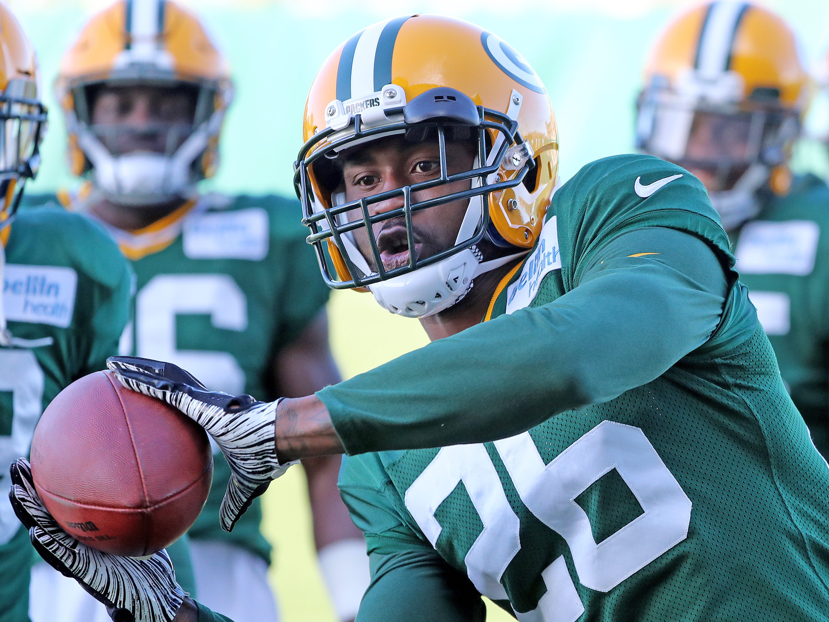 Green Bay Packers defensive back Bashaud Breeland (26) during practice on Clarke Hinkle Field Thursday, November 1, 2018 in Ashwaubenon, Wis.