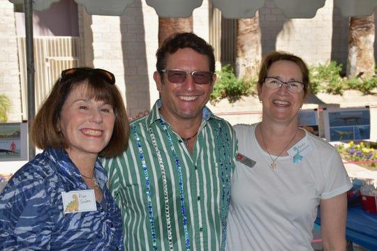 Education Ambassadors Fran Suydam and Becky Knutson with McCallum Theatre Education Teaching Artist Calvin Larson