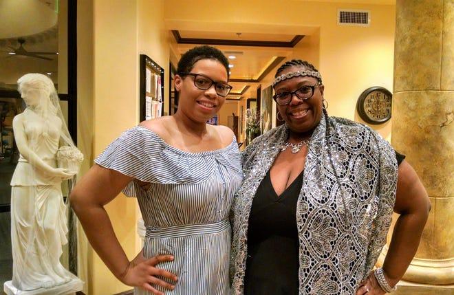 LDEI PS scholarship recipient Tiffanni Bowman and her mom Cheri attend the Death by Chocolate fundraiser at Venus de Fido.