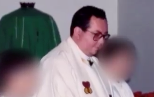 Carlos Rene Rodriguez during a service.