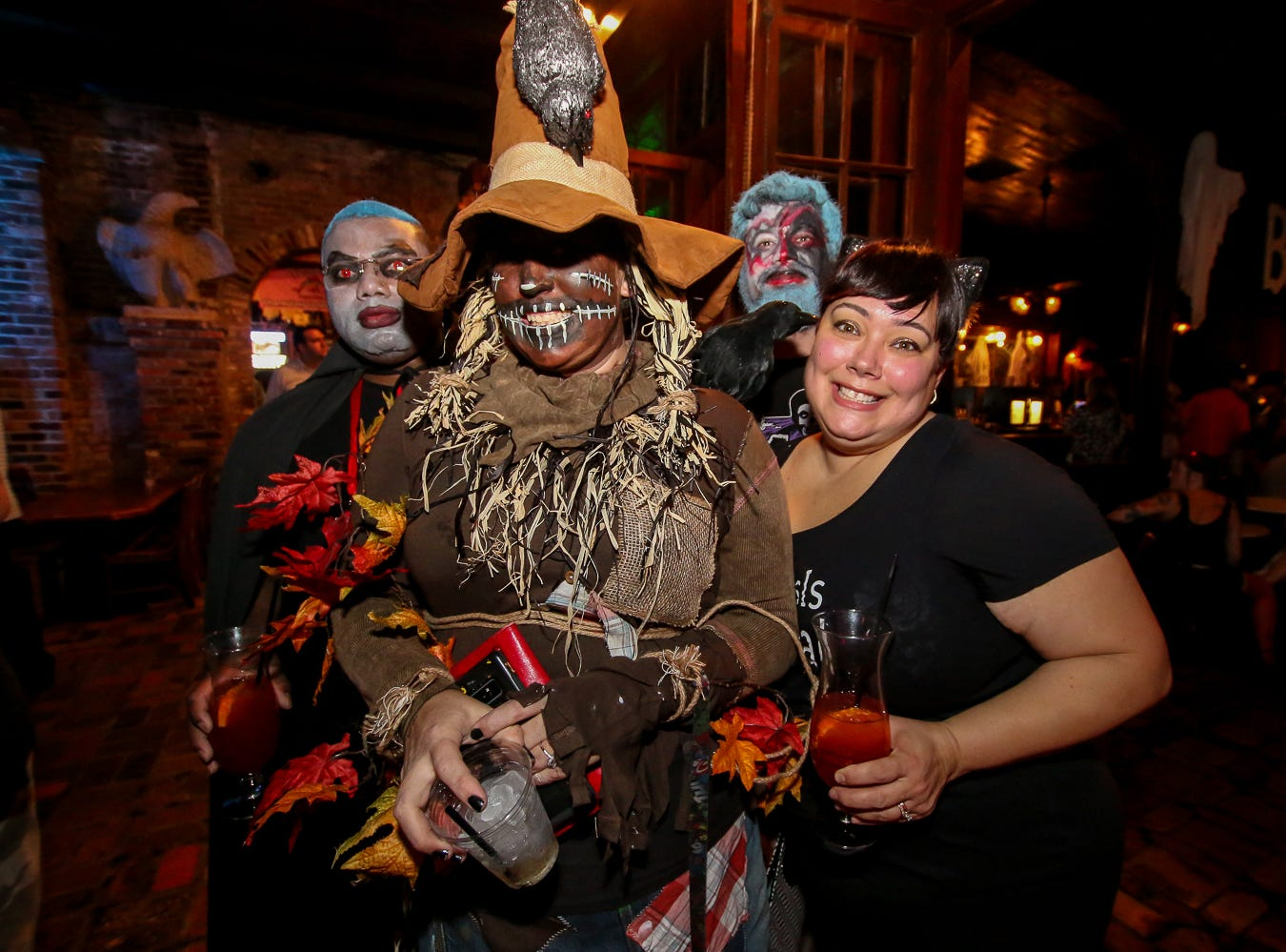People enjoy Seville Quarter's Halloween party, which featured over 100 entrants in a $1,000 grand prize costume contest, on Wednesday, October 31, 2018.