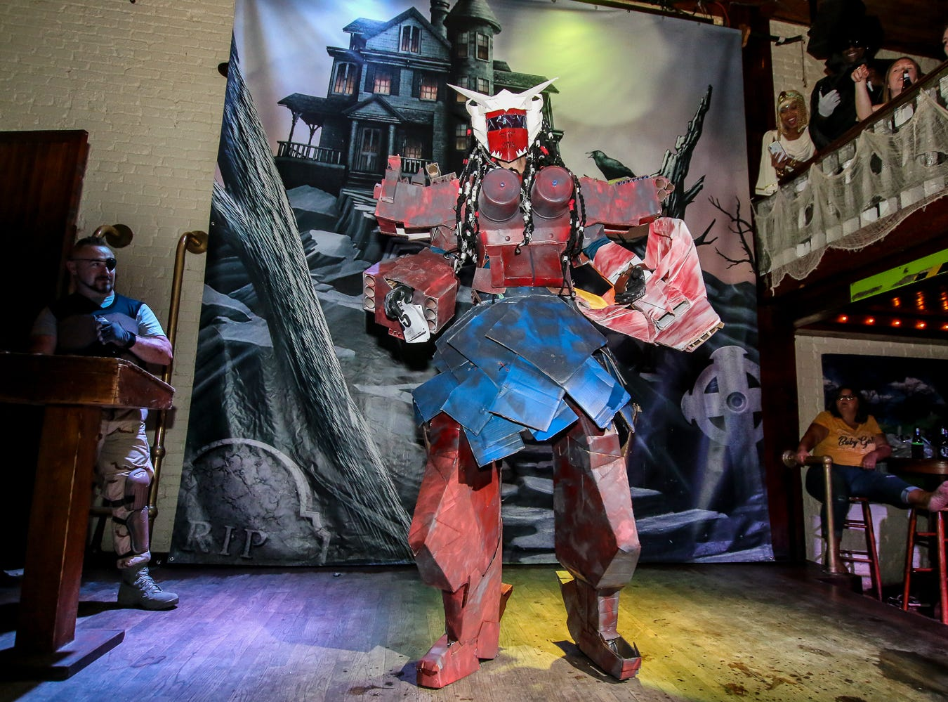 """Transformer"" won 2nd place in the $1,000 grand prize Halloween costume contest, which featured over 100 entrants, at Seville Quarter on Wednesday, October 31, 2018."