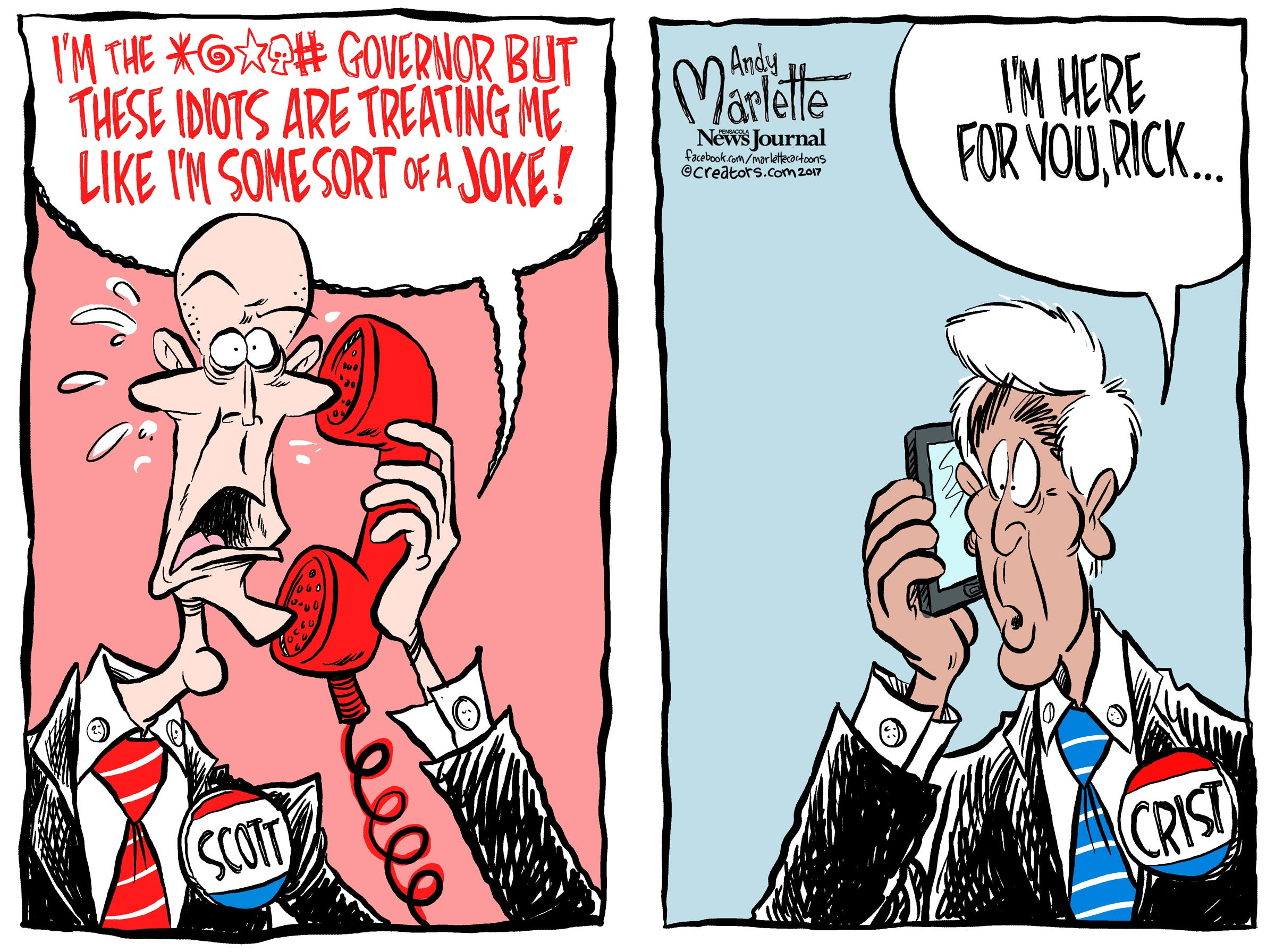 Super Ultimate Mega Cartoon Voter Guide to Rick Scott!