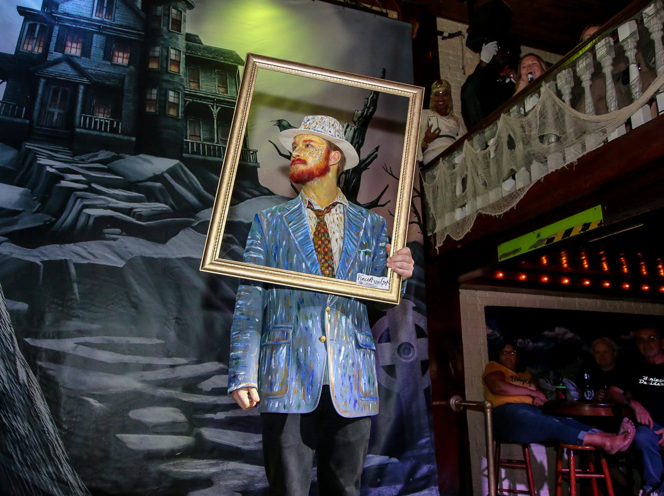 """Vincent van Gogh"" won 7th place in the $1,000 grand prize Halloween costume contest, which featured over 100 entrants, at Seville Quarter on Wednesday, October 31, 2018."