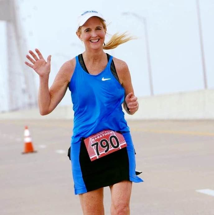 UWF professor Barbara White will compete in her 100th marathon this weekend at the Pensacola Marathon.