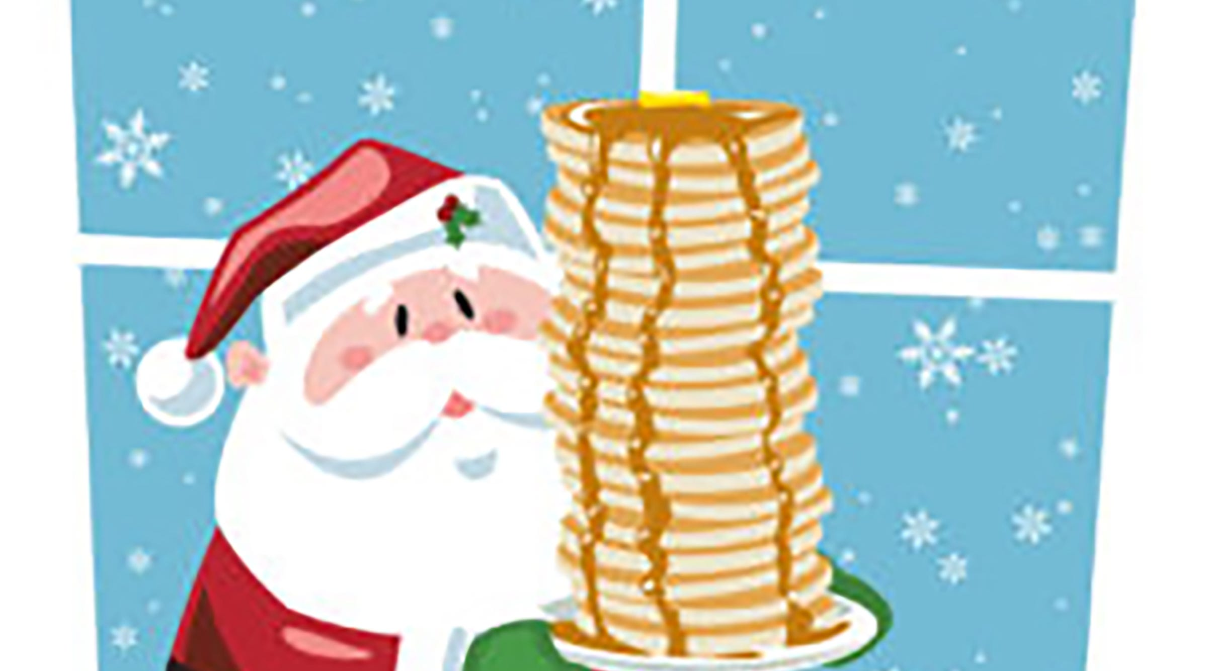 Pancakes with Santa.