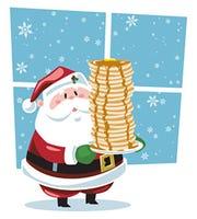 Pancakes with Santa.