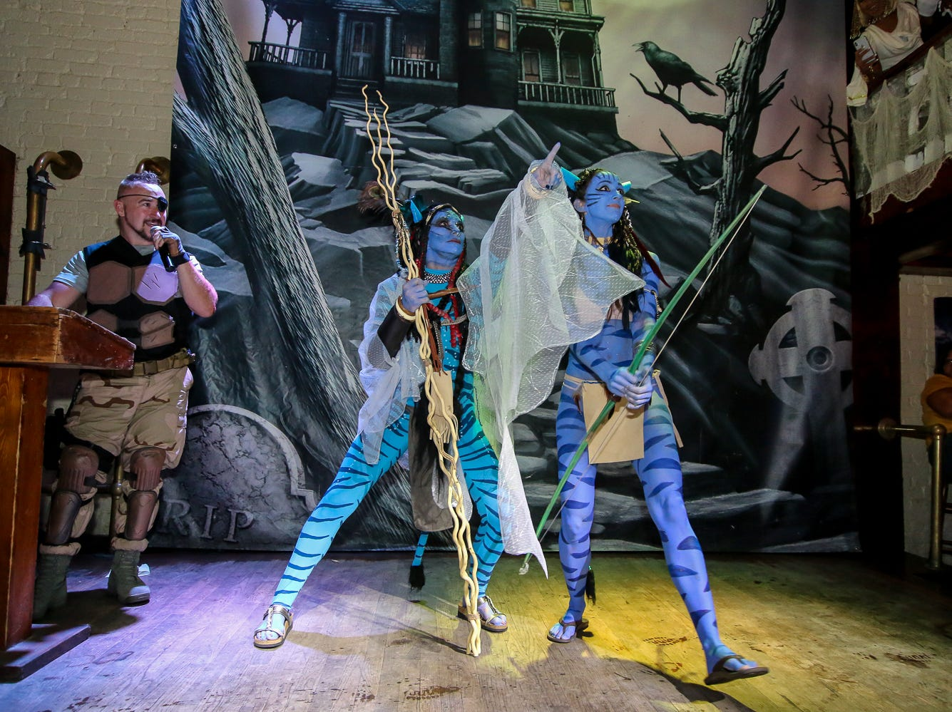 """Avatar"" won 13th place in the $1,000 grand prize Halloween costume contest, which featured over 100 entrants, at Seville Quarter on Wednesday, October 31, 2018."