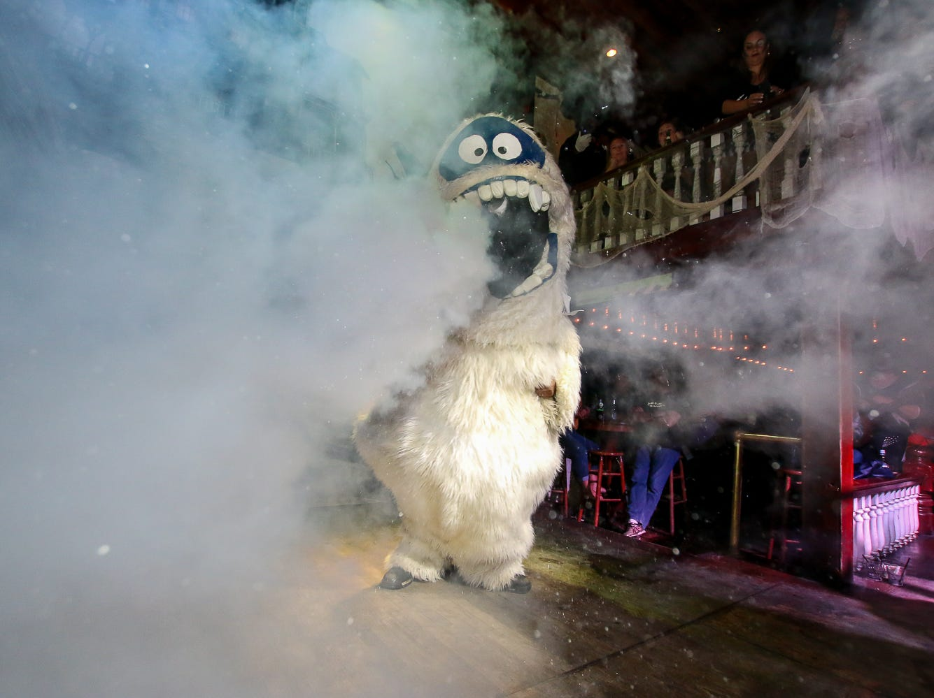 """Abominable Snowman"" won 5th place in the $1,000 grand prize Halloween costume contest, which featured over 100 entrants, at Seville Quarter on Wednesday, October 31, 2018."