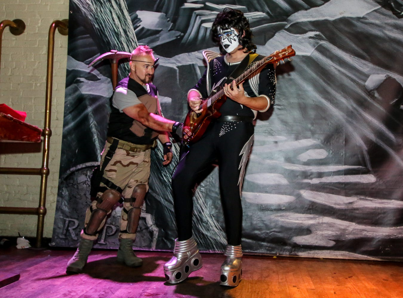 """Ace Frehley"" won 20th place in the $1,000 grand prize Halloween costume contest, which featured over 100 entrants, at Seville Quarter on Wednesday, October 31, 2018."